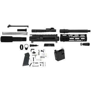 """TacFire AR-15 Complete Pistol Build Kit 9mm Luger 7.5"""" Barrel Lower Parts Kit With 9mm Mag Well Adapter Matte Black Finish"""