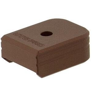 UTG PRO +0 Base Pad, Walther PPQ 9/40, Matte Bronze Aluminum