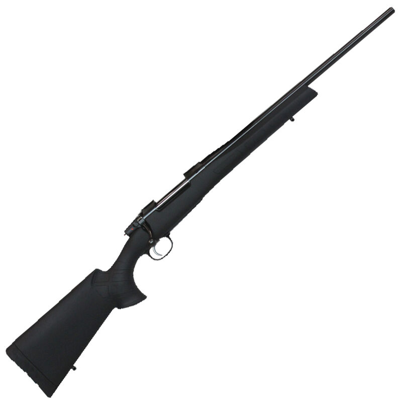 """CZ 557 Sporter Synthetic Bolt Action Rifle 6.5x55 Swedish 20.5"""" Barrel 4 Round Capacity Hinged Floorplate No Sights Integrated 19mm Dovetails American Style Synthetic Stock"""