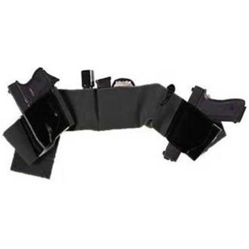 Galco Underwraps Belly Band Holster Large Elastic/Leather Black UWBKLG