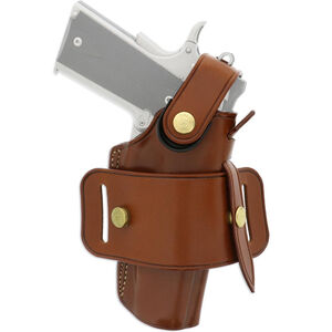 "Galco Ironhide 1911 with 4"" or 4.25"" Barrel and Clones Belt Holster Ambidextrous Leather Tan"