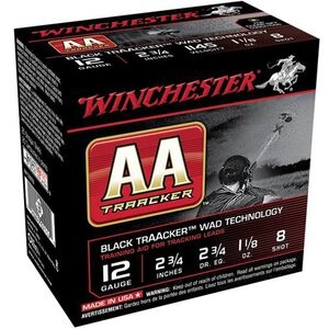 "Winchester AA TrAAcker 12 Ga 2.75"" #8 1.125 oz 25 Rounds"