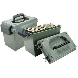 "MTM Case-Gard Shotshell Dry Box 12 Gauge up to 3.50"" Shells Holds 100 Total Shells Green Wild Camo SD-100-12-09"