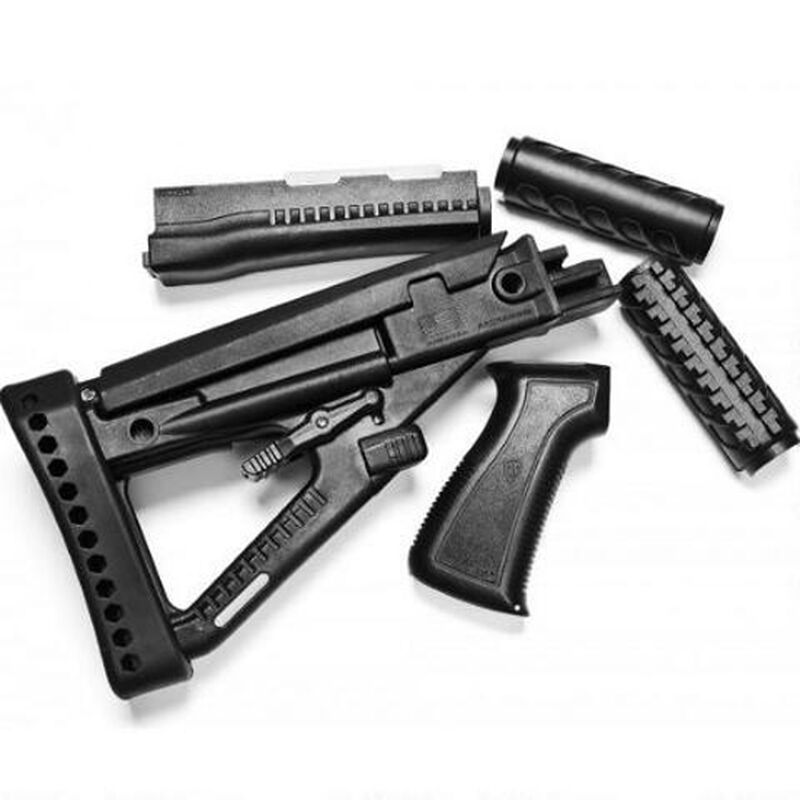 ProMag Archangel OPFOR Series AK-47 Furniture Set Stamped Receiver  Adjustable Buttstock Polymer Matte Black