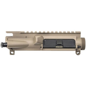 Aero Precision AR-15 Assembled Upper Receiver M4 Feed Ramps Port Door and Forward Assist Flat Top Picatinny Rail Aluminum FDE Cerakote Finish APAR501801A