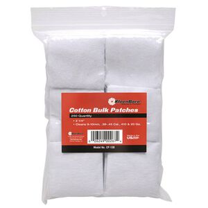 """KleenBore SuperShooter Patch .38-.45/.410-20 Gauge 2.25"""" Square Cotton 250 Pack"""