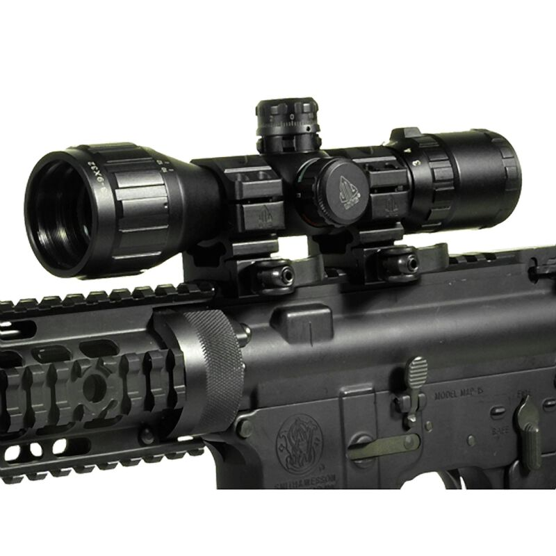 Leapers UTG BugBuster Scope 3-9x32mm Riflescope AO RGB Mil-dot QD Rings SCP-M392AOLWQ