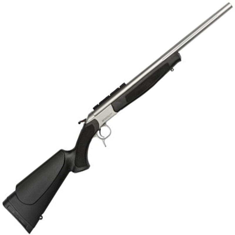 """CVA Scout V2 Single Shot Takedown Compact .243 Winchester Break Action Rifle 20"""" Fluted SS Barrel DuraSight Rail Synthetic Forend/Stock Matte Stainless Finish"""