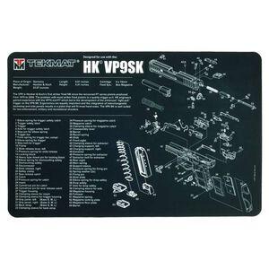 "TekMat Heckler & Koch HK VP9SK Armorer's Bench Mat 17""x11""x1/8"" 3mm Thick Non-Skid Neoprene Back Water Proof/Oil Resistant/Washable Black Finish"