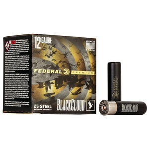 "Federal Black Cloud FS Steel 12 Gauge Ammunition 3"" #4 1-1/4 Oz Steel Shot 1450 fps"