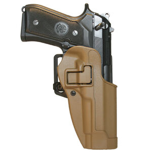 BLACKHAWK! SERPA CQC SIG Sauer P220, P226, P225 with or without Rails Belt/Paddle Concealment Holster Left Hand Polymer Coyote Tan 410506CT-L