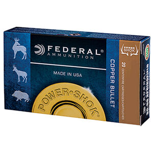 Federal Power-Shok Copper .308 Winchester Ammunition 20 Rounds LFHP 150 Grains 308150LFA