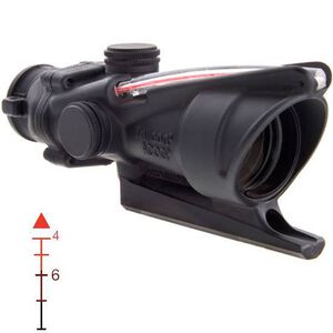 Trijicon ACOG TA31F 4x32 Rifle Scope Illuminated Red Chevron .223 Ballistic Reticle with BAC 1/2 MOA with TA51 Mount Aluminum Black TA31F