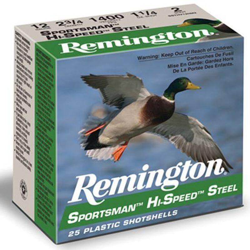 """Remington 12 Gauge 3"""" #4 Steel 1.25 oz 25 Round Box"""