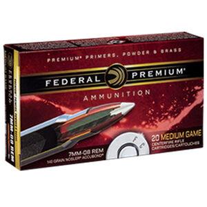 Federal Premium Nosler 7mm-08 Remington Ammunition 20 Rounds 140 Grain Nosler Accubond 2850fps