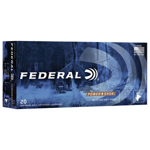 Federal Power-Shok 300 AAC Blackout Ammunition 150 Grain SP Bullet 1900 fps