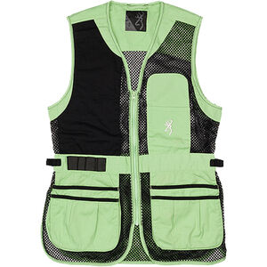 Browning Ace Shooting Vest Women's Black/Neomint Right Hand Large