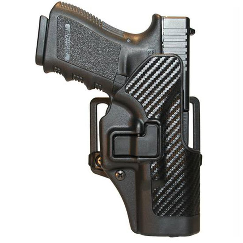 BLACKHAWK! SERPA CQC Belt/Paddle Holster For GLOCK 19/23/32/36 Right Hand Polymer Carbon Fiber 410002BK-R