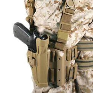 BLACKHAWK! Level 2 SERPA Beretta 92/96/M9 Tactical Leg Holster Right Hand Kydex Coyote 430504CT-R