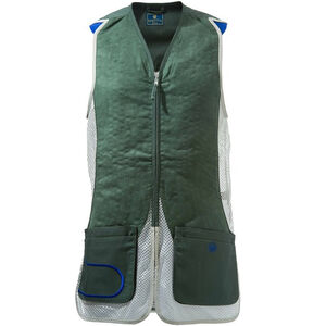 Beretta USA DT11 Shooting Vest Cotton and Mesh Panels Medium Green/Silver