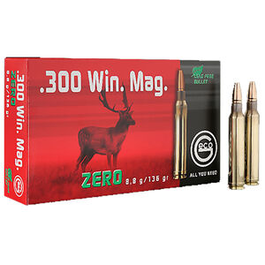 GECO .300 Winchester Magnum Ammunition 20 Rounds 136 Grain GECO Zero Lead Free Projectile