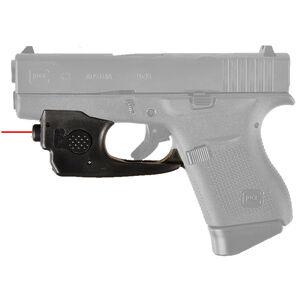 AimShot Trigger Guard Mounted Red Laser GLOCK 43 CR1/3N Battery Nylon Reinforced Carbon Fiber Housing Matte Black Finish