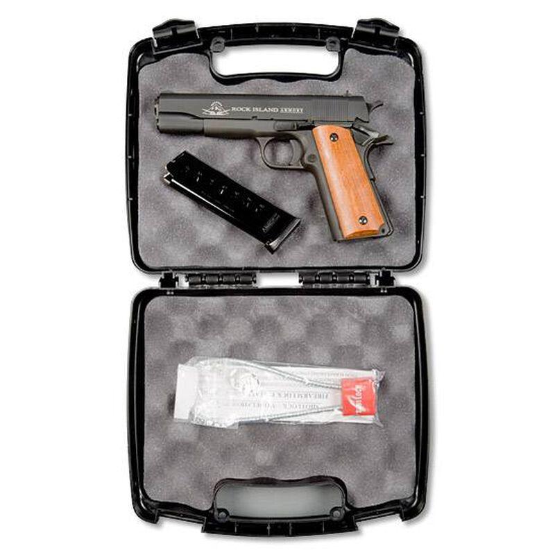 "Rock Island Armory GI Series Standard Full Size .45 ACP 1911 Semi Auto Pistol 5"" Barrel 8 Rounds Fixed Sights Wood Grips Parkerized Slide/Frame Matte Finish"