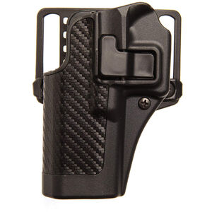 BLACKHAWK! SERPA CQC Belt/Paddle Holster For GLOCK 19/23/32/36 Left Hand Black/Carbon Fiber 410002BK-L