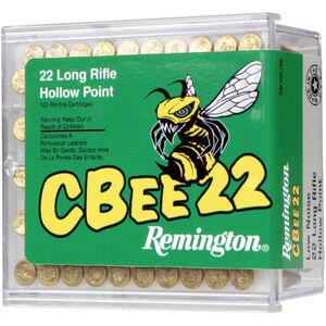 Remington CBEE .22 LR Ammunition 100 Rounds 33 Grain Lead Truncated HP Bullet 740fps Low Noise