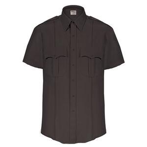 Elbeco Textrop2 Men's Short Sleeve Shirt Neck 16.5 100% Polyester Tropical Weave Black