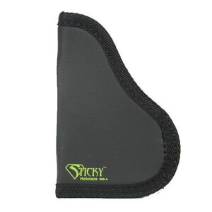 "Sticky Holster MD-4 Medium Modified For Light/Laser IWB Holster Ambidextrous Single Stack/Sub-Compact Semi Auto Pistols up to 3.6"" Barrels Sticky Skin Material Matte Black Finish"