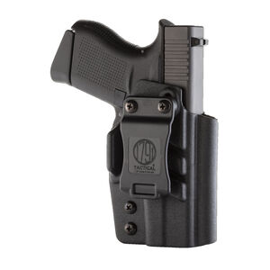 1791 Gunleather Tactical Kydex Multi-Fit IWB Holster for GLOCK 43 Semi Auto Pistols Right Hand Draw Kydex Black