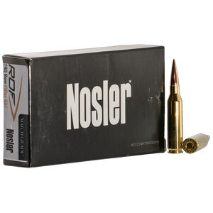 Nosler Match Grade 260 Remington Ammunition 20 Rounds 130 Grains RDF HPBT Bullet 3050 fps