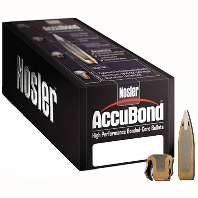 "Nolser 7mm Caliber .284"" Diameter 150 Grain Accubond Long Range Boat Tail Polymer Tip Bullet 100 Count 58734"