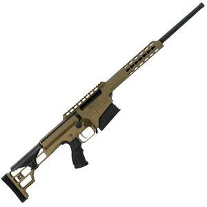 "Barrett Model 98B Fieldcraft Bolt Action Rifle .308 Win 18"" Light Barrel 10 Rounds M1913/Picatinny Rail Adjustable Cheek Piece Burnt Bronze 14821"