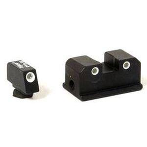 Trijicon Night Sight Set Walther P99/PPQ Three Dot Tritium Green Steel Matte Black WP01