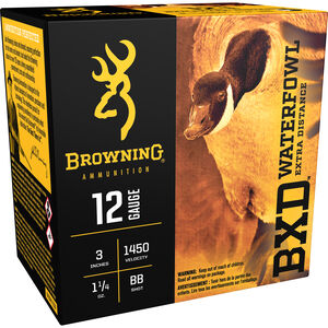 "Browning 12 Gauge Ammunition 25 Rounds 3"" 1-1/4 oz. BB Shot"