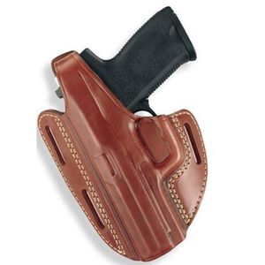 Gould & Goodrich Gold Line GLOCK 19, 23, 32 Three Slot Pancake Holster Left Hand Leather Tan 803-G19LH