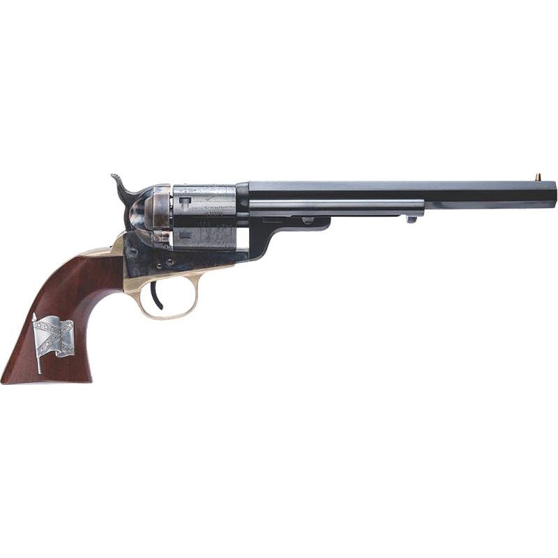 "Cimarron 1851 Richards-Mason .38 Special SA Revolver Pistol 7.5"" Barrel 6 Rounds Walnut Grip with CSA Flag Medallion Case Hardened/Blued Finish"