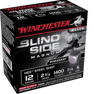"""Winchester Blind Side 12 Gauge Ammunition 2-3/4"""" #5 Steel Shot 1-1/4 Oz 1400 fps"""
