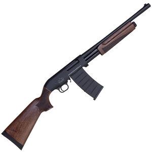"""Black Aces Tactical Pro M Series 12 Gauge Pump Action Shotgun 18.5"""" Barrel 3"""" Chamber 5 Rounds Detachable Box Magazine Wood Stock/Forend Matte Black"""