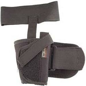 "Uncle Mike's Ankle Holster Medium- & Large-Frame Autos 3-1/4"" to 3-3/4"" Barrels Size 16 Right Hand Nylon Black"