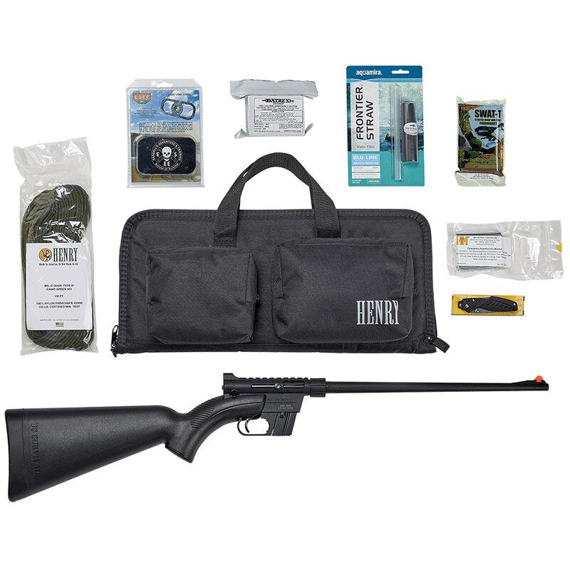 "Henry US Survival AR-7 Rifle/Combo Pack Semi Auto Rifle .22 Long Rifle 16"" Barrel 8 Rounds Complete Case/Survival Accessories Matte Black Finish"