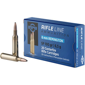 Prvi Partizan PPU 6mm Remington Ammunition 100 Grain SP 3100fps