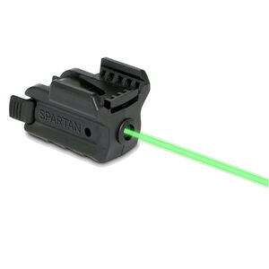 LaserMax Spartan Series SPS-G Universal Rail Mounted Laser 1/3N Lithium Batteries Green Matte Black SPS-G