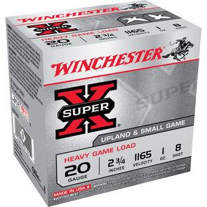 """Winchester Super-X 20 Ga 2.75"""" #8 Lead 1oz 250 Rounds"""