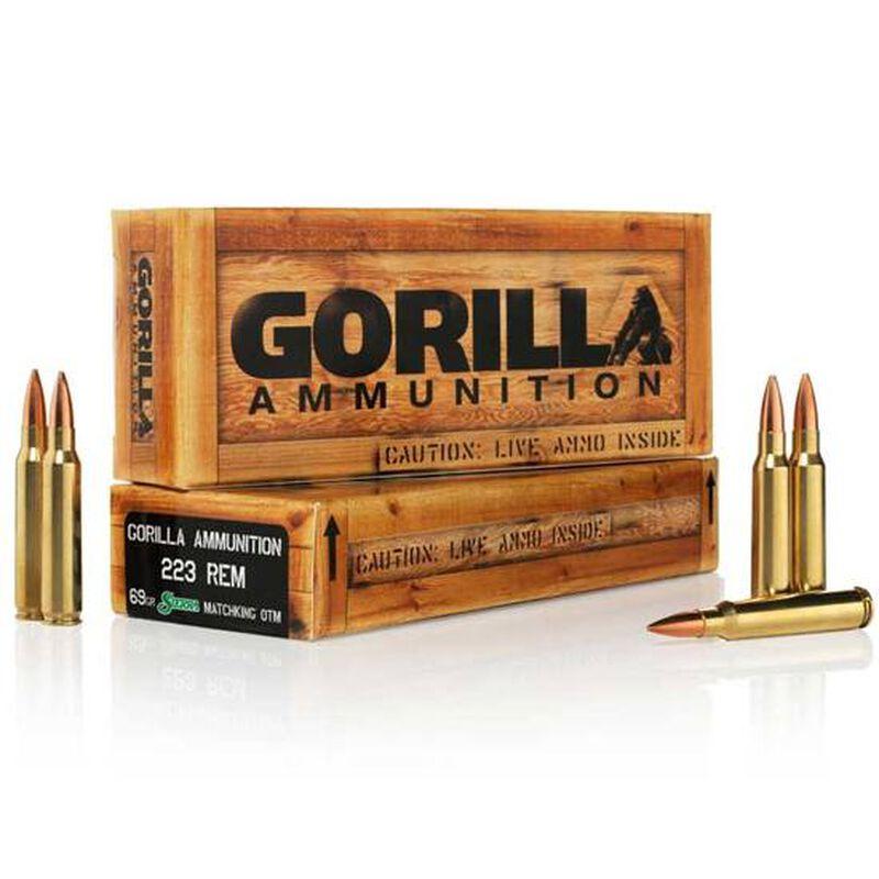 Gorilla .223 Remington Ammunition 20 Rounds, BTHP, 69 Grains