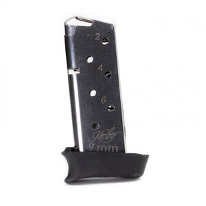 Kimber Micro 9 Magazine 9mm Luger 7 Rounds With Hogue Grip Extended Steel Construction Blued