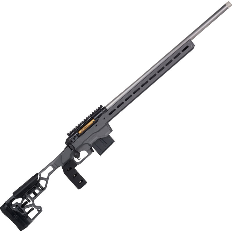 """Savage 110 Elite Precision .300 Win Mag Bolt Action Rifle 30"""" Stainless Barrel 5 Rounds Adjustable Chassis with MLOK and ARCA AICS Compatible Gray/Flash Nitride Finish"""