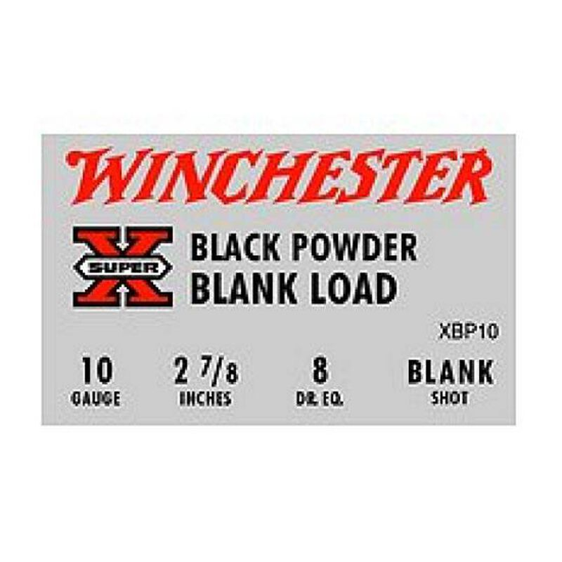 Ammo 10 Gauge Winchester Super-X Black Powder Blank Load 2-7/8